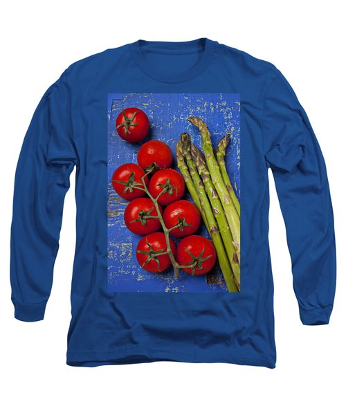 Tomatoes And Asparagus  Long Sleeve T-Shirt by Garry Gay