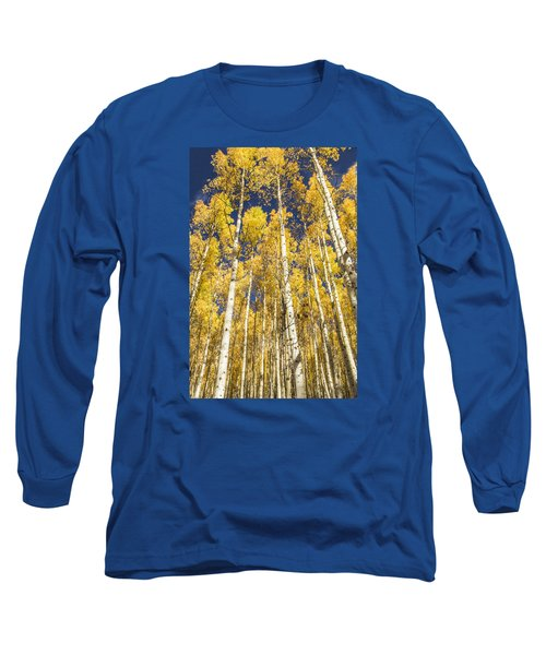 Towering Aspens Long Sleeve T-Shirt by Phyllis Peterson