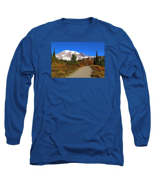 Long Sleeve T-Shirt featuring the photograph Trail To Myrtle Falls by Lynn Hopwood