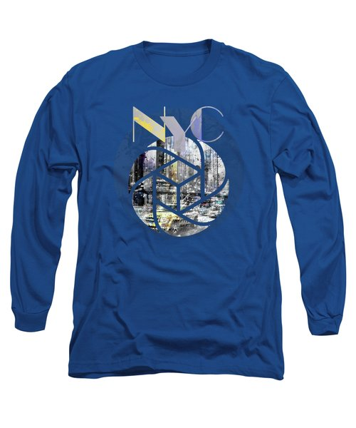 Trendy Design New York City Geometric Mix No 4 Long Sleeve T-Shirt