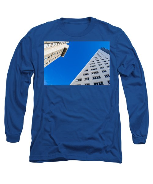 Triangle Modern Building Long Sleeve T-Shirt by John Williams
