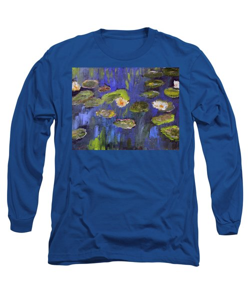 Tribute To Monet Long Sleeve T-Shirt by Michael Helfen