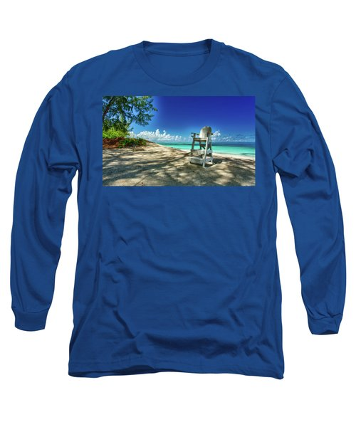 Tropical Beach Chair Long Sleeve T-Shirt