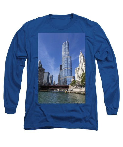 Trump Tower Chicago Long Sleeve T-Shirt by Adam Romanowicz