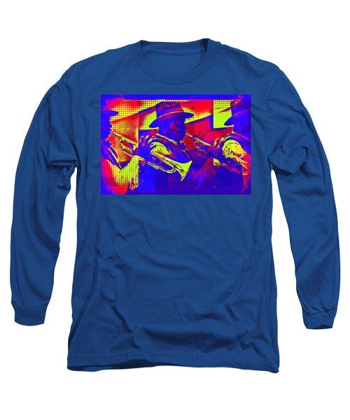 Trumpet Player Pop-art Long Sleeve T-Shirt