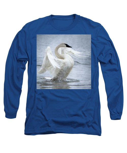 Trumpeter Swan - Misty Display 2 Long Sleeve T-Shirt