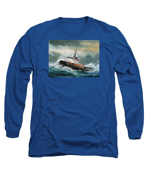 Tugboat Hunter Crowley Long Sleeve T-Shirt by James Williamson