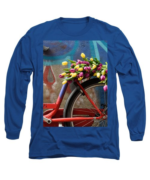 Tulip Bike Long Sleeve T-Shirt by Phyllis Peterson