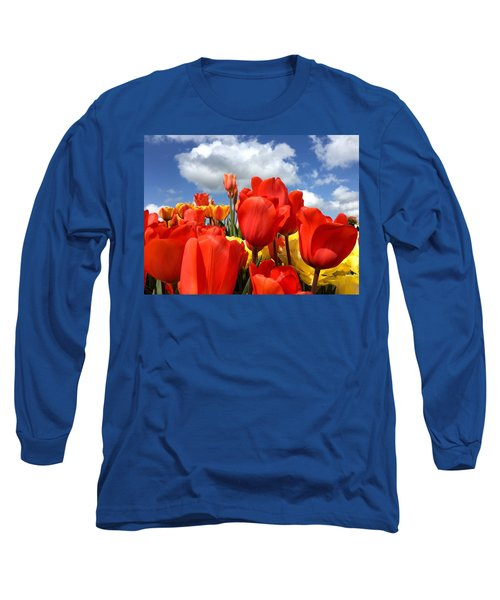 Tulips In The Sky Long Sleeve T-Shirt