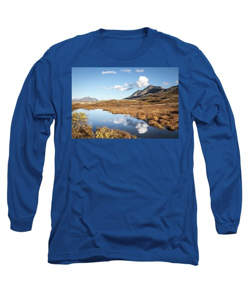 Tundra Pond Reflections In Fall Long Sleeve T-Shirt