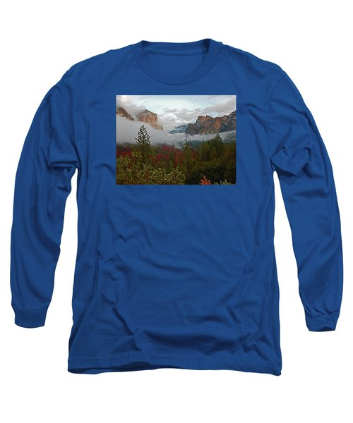 Long Sleeve T-Shirt featuring the photograph Tunnel View 12 2016 by Walter Fahmy