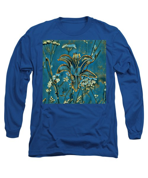 Turquoise Tigerlily  Long Sleeve T-Shirt