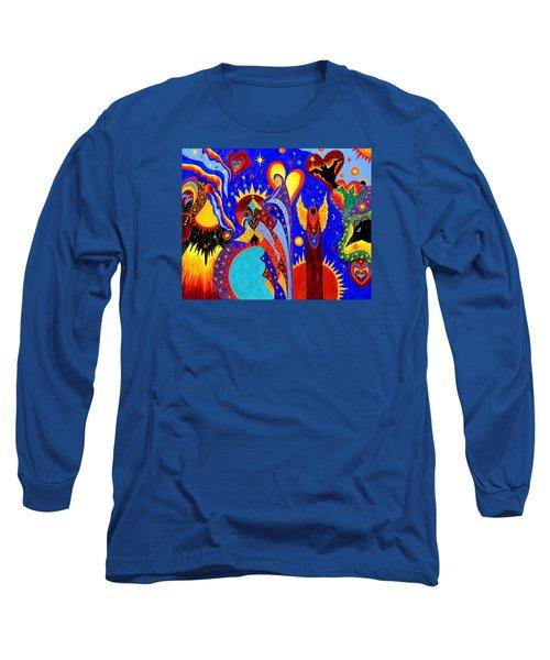 Angel Fire Long Sleeve T-Shirt by Marina Petro