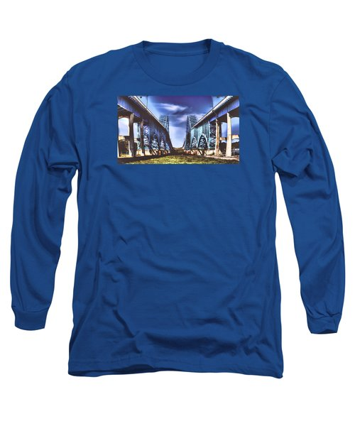 Twin Spanned Arched Long Sleeve T-Shirt by Jim Lepard