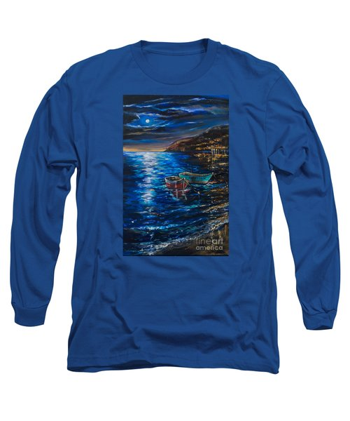 Two Dinghies Long Sleeve T-Shirt by Linda Olsen