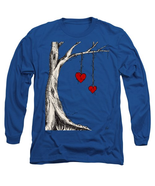 Two Hearts Graphic Long Sleeve T-Shirt