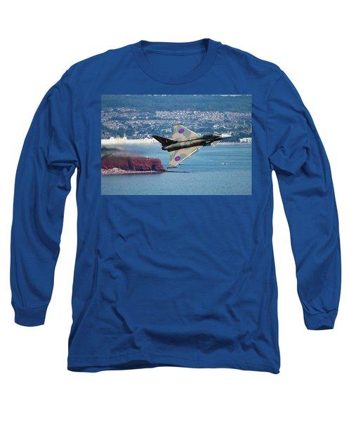 Typhoon Gina At Dawlish Air Show Long Sleeve T-Shirt by Ken Brannen