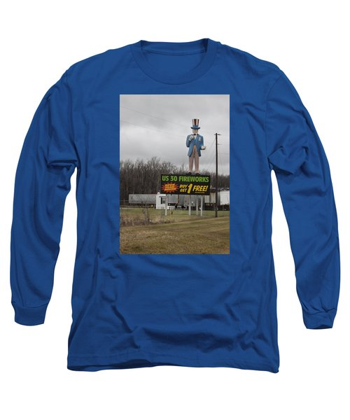 Uncle Sams Fireworks Long Sleeve T-Shirt by Suzanne Gaff