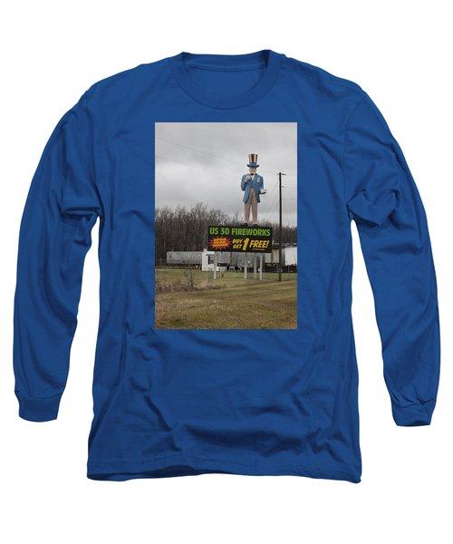 Uncle Sams Fireworks Long Sleeve T-Shirt