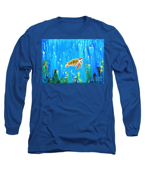 Underwater Magic 5-happy Turtle Long Sleeve T-Shirt