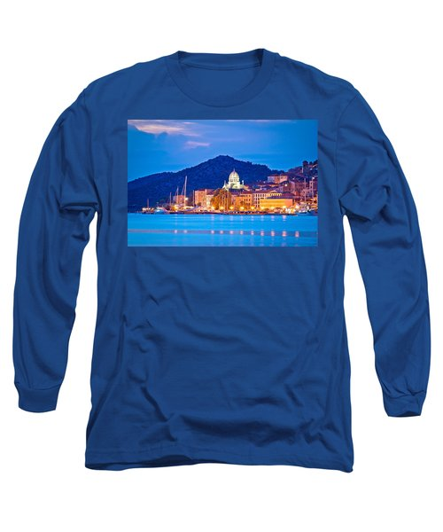 Unesco Town Of Sibenik Blue Hour View Long Sleeve T-Shirt
