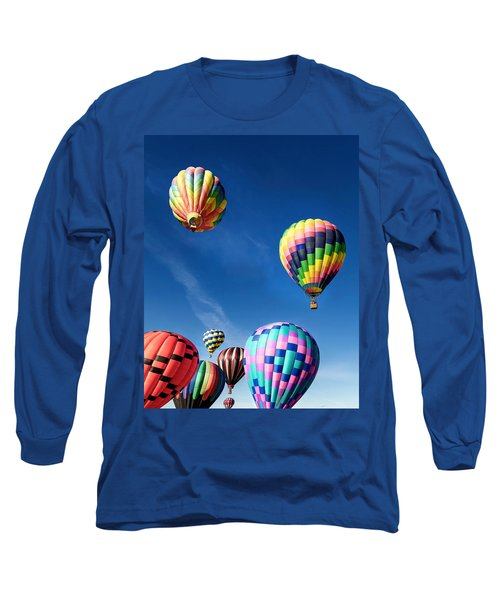 Long Sleeve T-Shirt featuring the photograph Up In A Hot Air Balloon 2 by James Sage