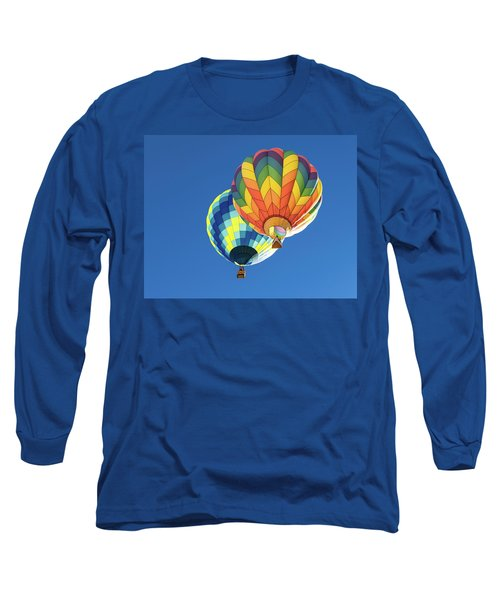 Long Sleeve T-Shirt featuring the photograph Up In A Hot Air Balloon by James Sage
