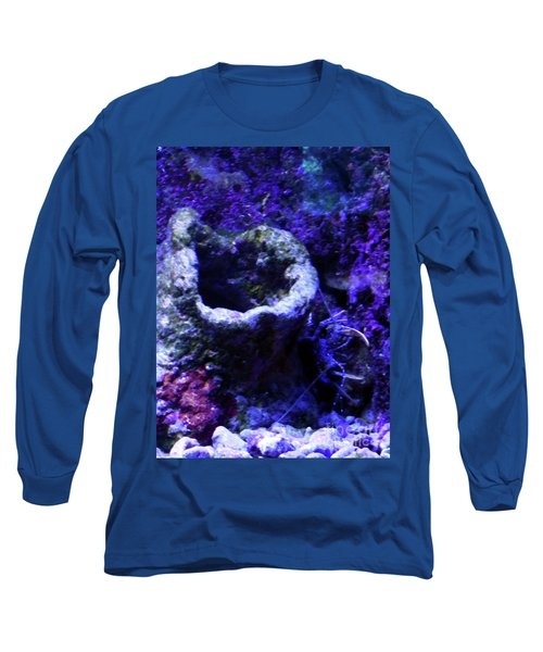 Long Sleeve T-Shirt featuring the digital art Uw Coral Stone by Francesca Mackenney