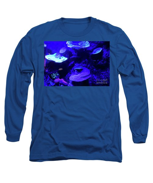 Long Sleeve T-Shirt featuring the photograph Uw Neon Coral by Francesca Mackenney
