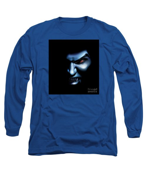 Long Sleeve T-Shirt featuring the drawing Vampires Rage by Brian Gibbs