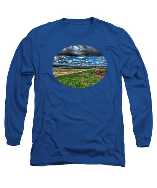 View From The Van Duzer Vineyards  Long Sleeve T-Shirt