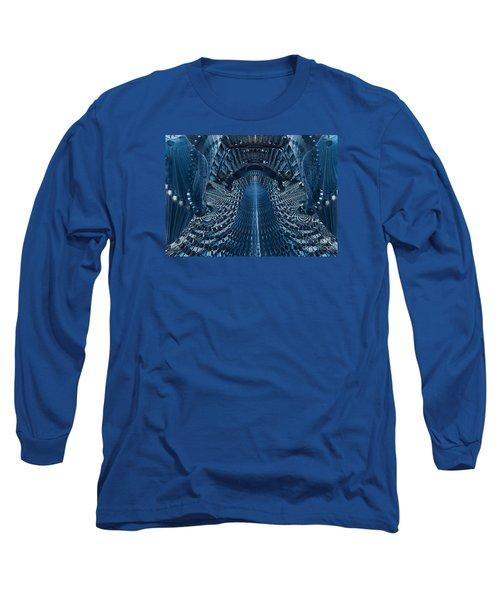 Long Sleeve T-Shirt featuring the digital art Veiled Fractal by Melissa Messick