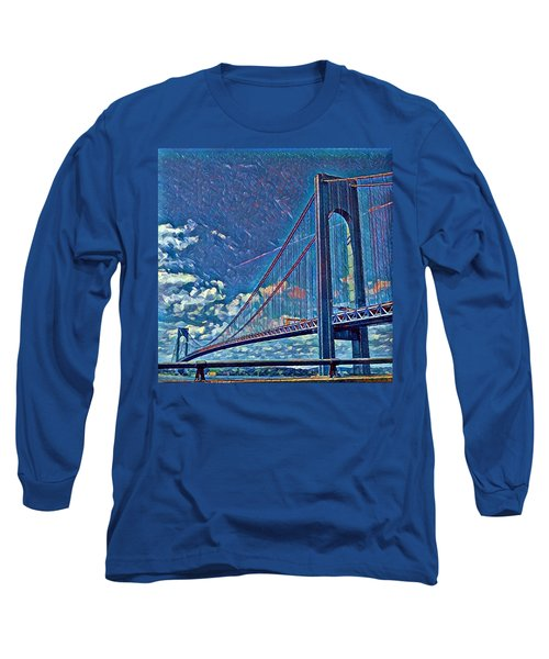 Verrazano Bridge Long Sleeve T-Shirt by Rita Tortorelli