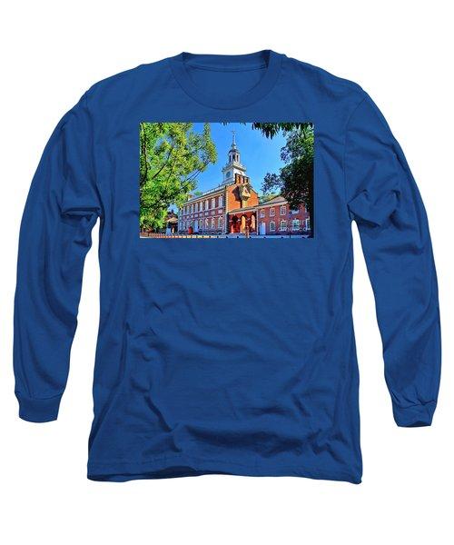 Long Sleeve T-Shirt featuring the digital art Vestige Of Independence Hd by DJ Florek