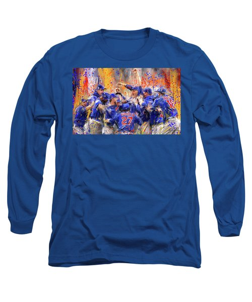 Victory At Last - Cubs 2016 World Series Champions Long Sleeve T-Shirt