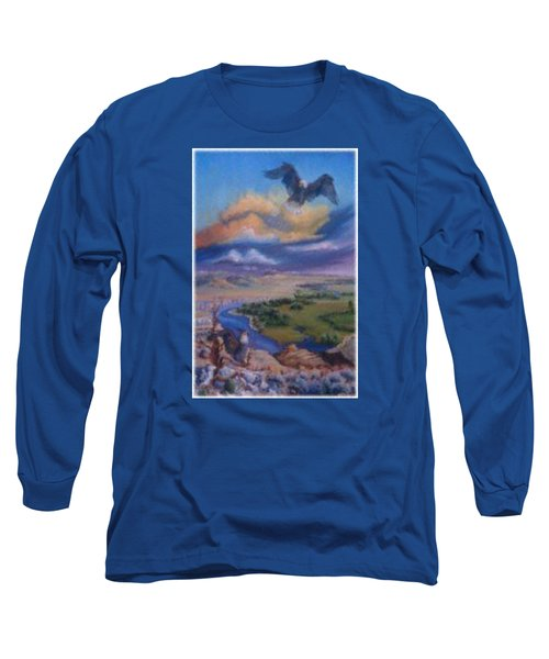 Long Sleeve T-Shirt featuring the painting View From Sheep Rock by Dawn Senior-Trask