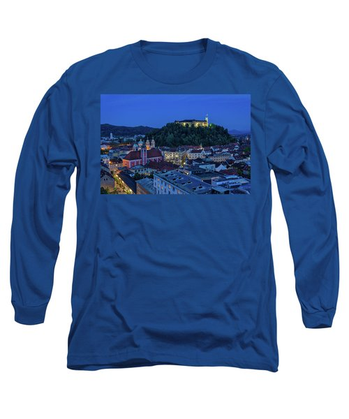 Long Sleeve T-Shirt featuring the photograph View From The Skyscraper #2 - Slovenia by Stuart Litoff