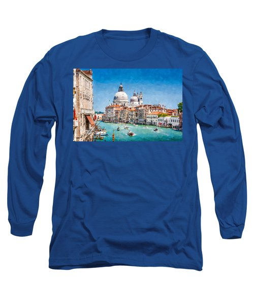 Long Sleeve T-Shirt featuring the digital art View Of Canal Grande by Kai Saarto