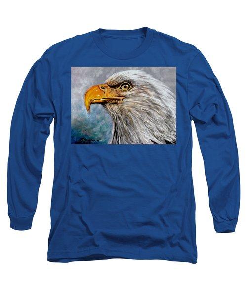 Vigilant Eagle Long Sleeve T-Shirt by Patricia L Davidson