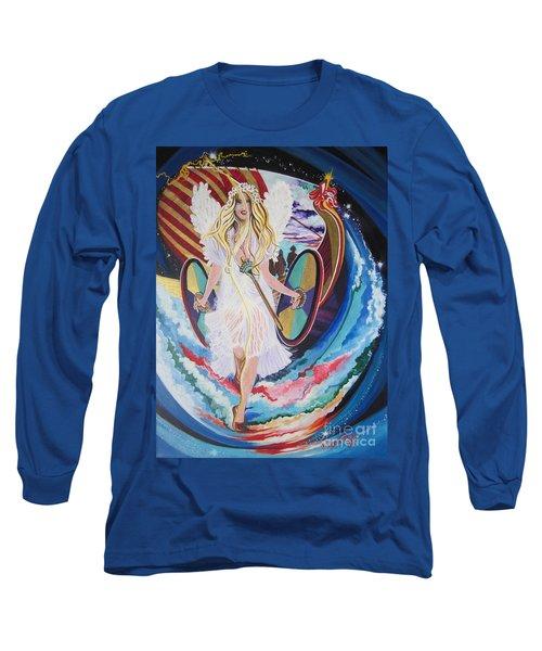 Blaa Kattproduksjoner   Welcomes Viking Goddess  To  Egypt Long Sleeve T-Shirt