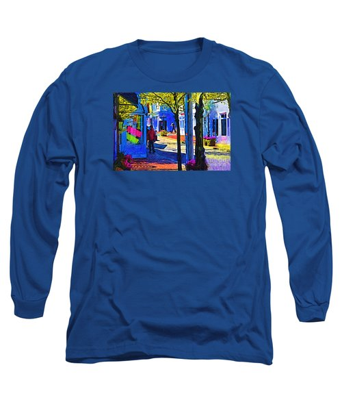 Village Shopping Long Sleeve T-Shirt by Kirt Tisdale