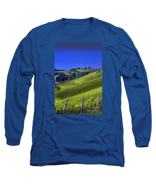Vineyards Of Jerusalem Slovenia Long Sleeve T-Shirt by Graham Hawcroft pixsellpix
