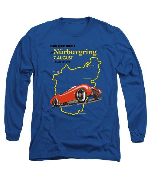 Vintage Nurburgring Motor Racing Long Sleeve T-Shirt