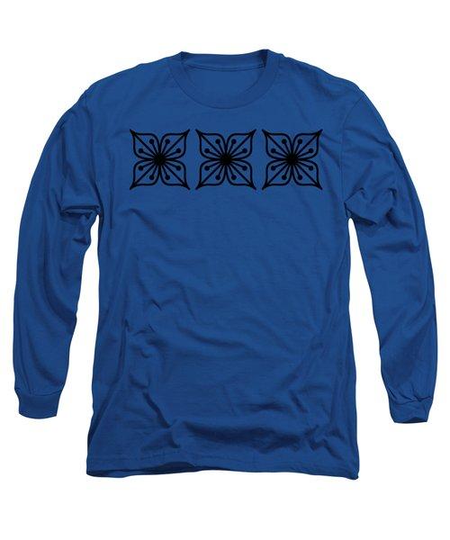 Floral Trio Transparent Long Sleeve T-Shirt