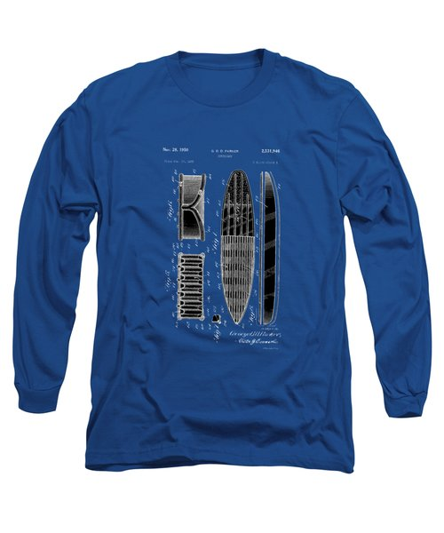 Vintage Surf Board Patent 1950 Long Sleeve T-Shirt
