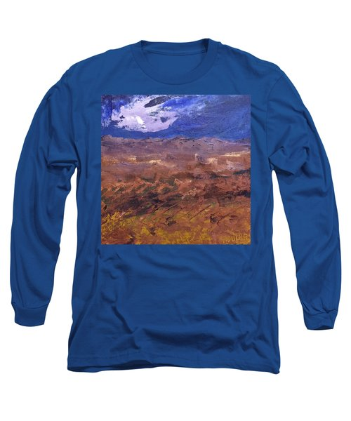 Long Sleeve T-Shirt featuring the painting Violet Night  by Norma Duch