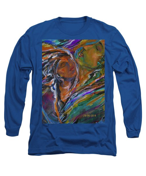 Violets And Ordchid Long Sleeve T-Shirt