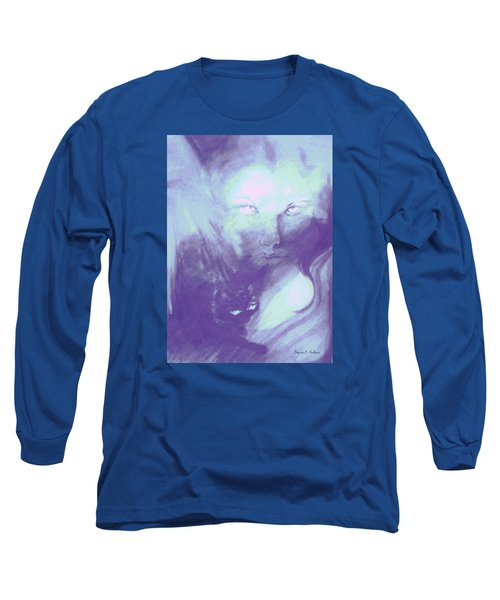 Long Sleeve T-Shirt featuring the painting Visions Of The Night by Denise Fulmer