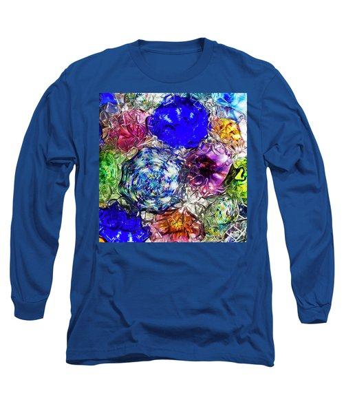 Vitreous Flora Long Sleeve T-Shirt by Gary Holmes