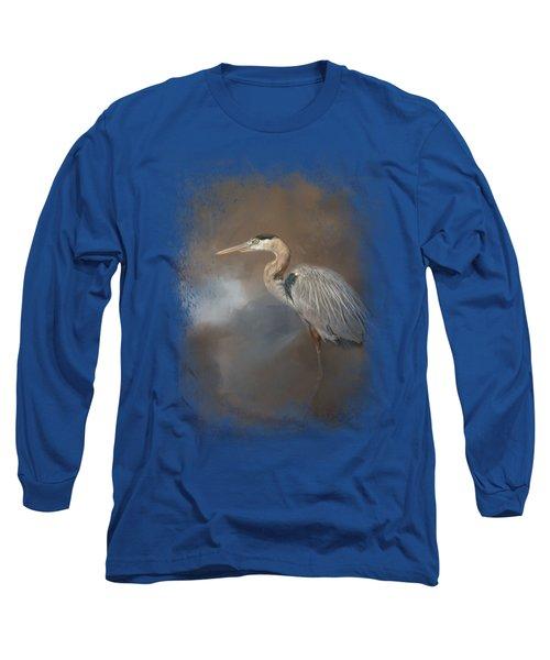 Walking Into Blue Long Sleeve T-Shirt by Jai Johnson